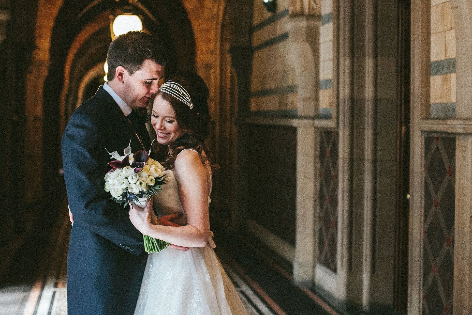 Wedding photography in Manchester Town Hall