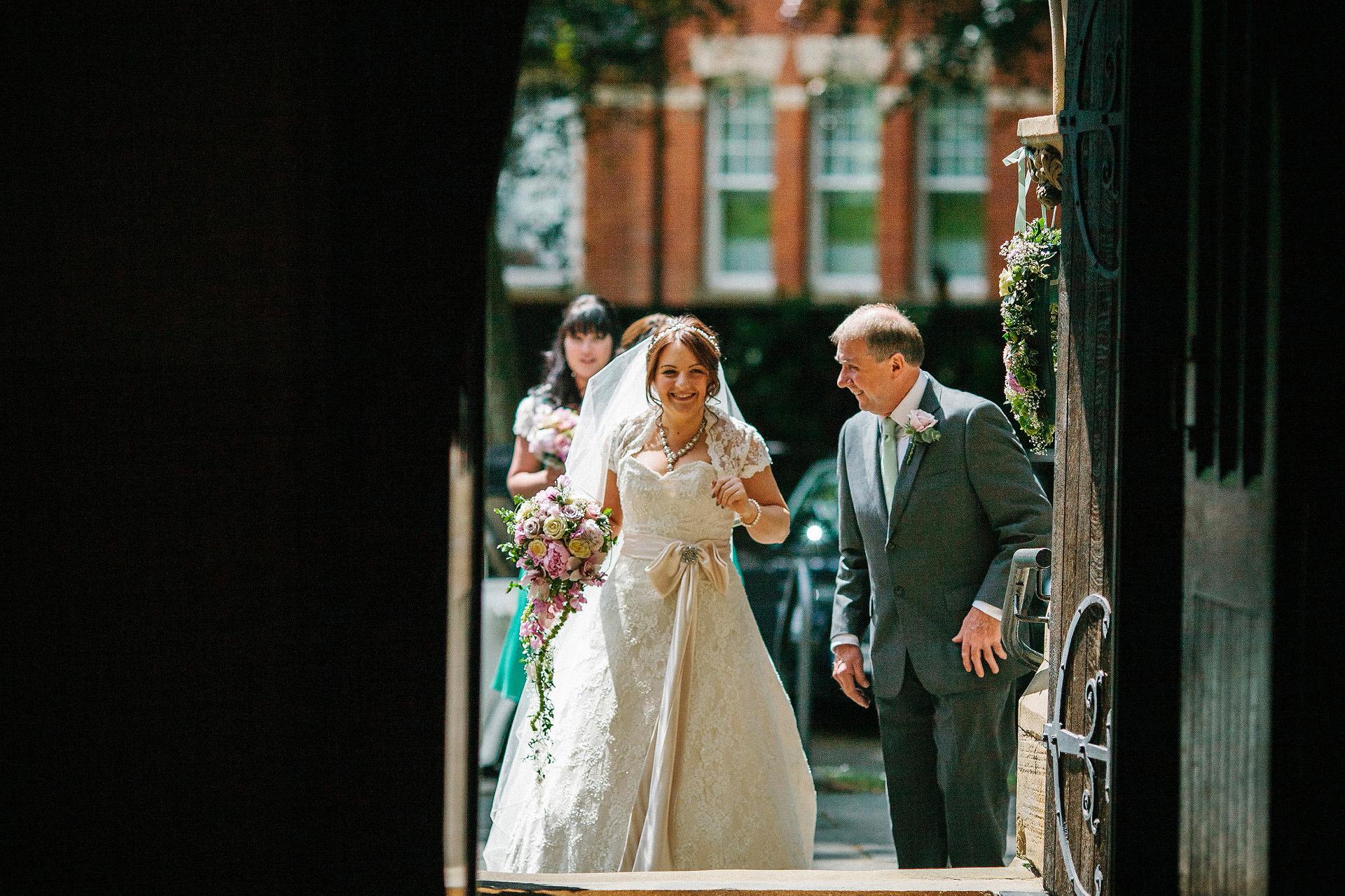 Bride in church cheshire