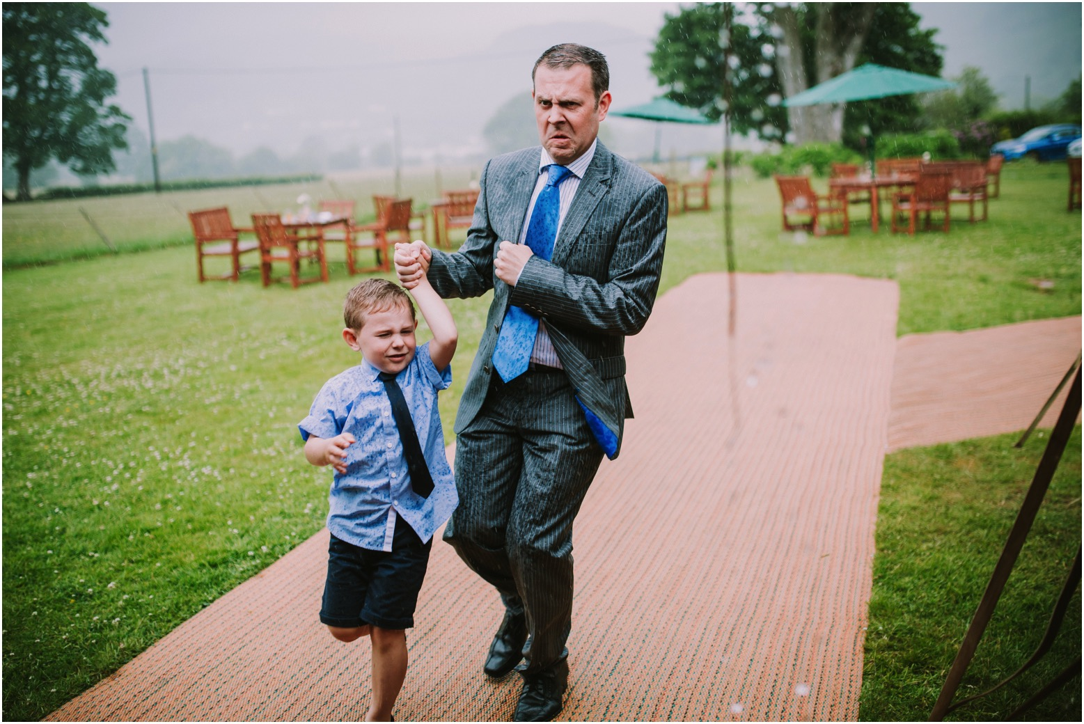 Rainy Lake District wedding